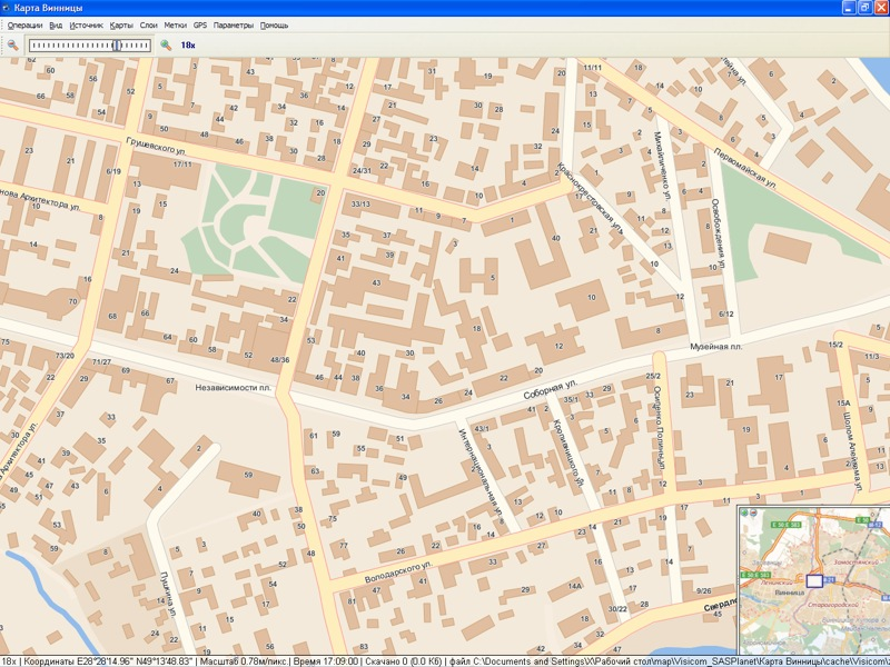 Карта Винницы Visicom/SAS.Planet: http://ykpkapma.narod.ru/maps/m065.html